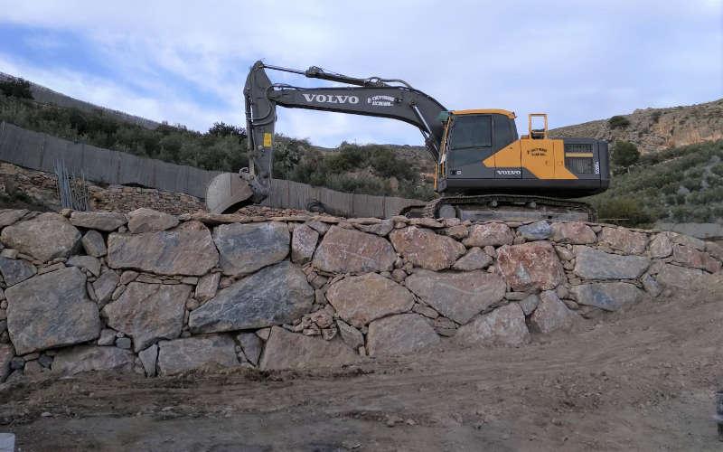 Construcción muros de escollera