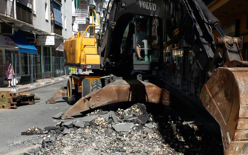 Demolición de asfalto