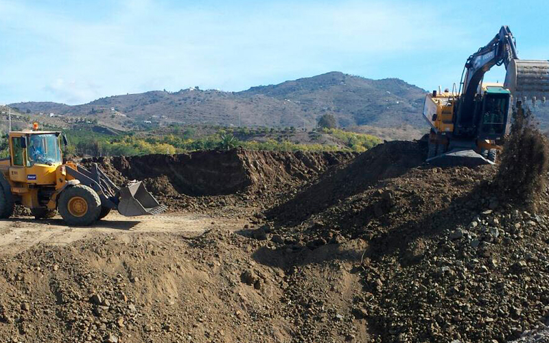 Excavación en desmonte