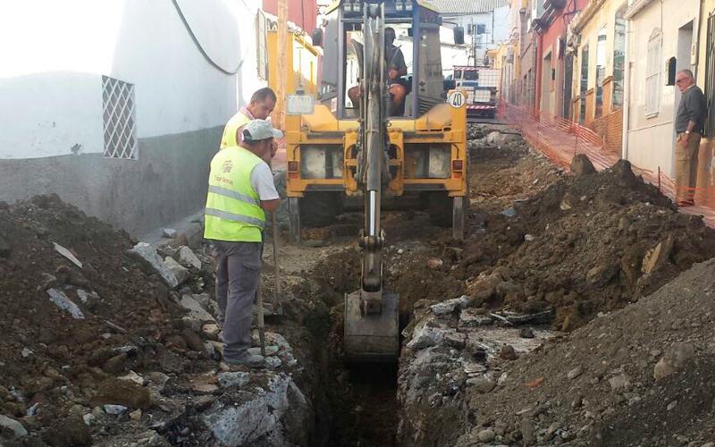 Excavación de zanja para tuberias