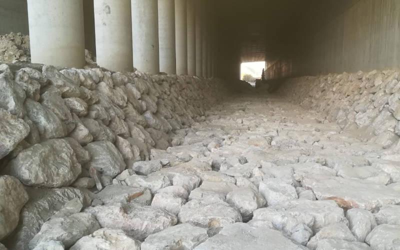 Muros de escollera en Málaga