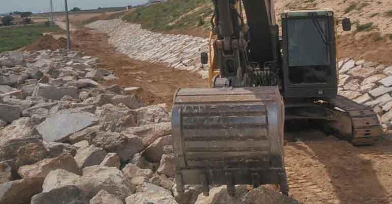 Obras en la autovía en Yecla