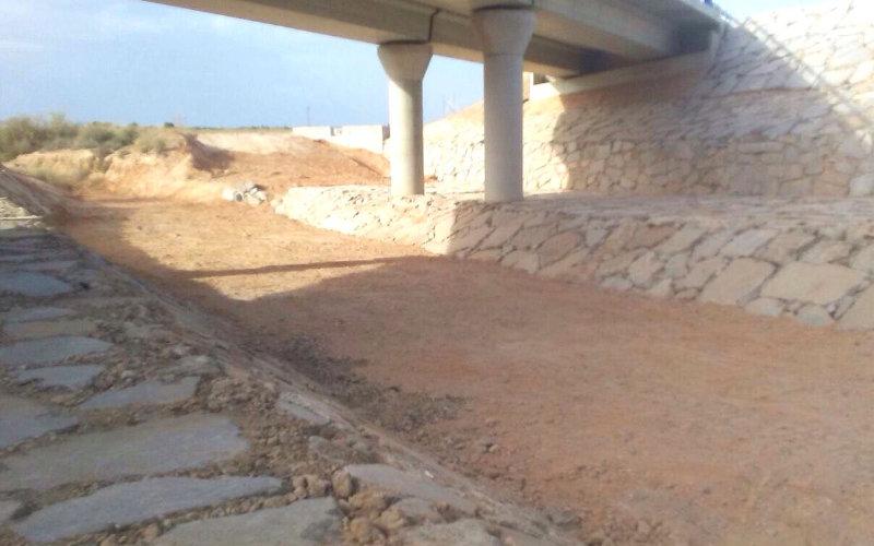 Realización de muros de escollera en Málaga