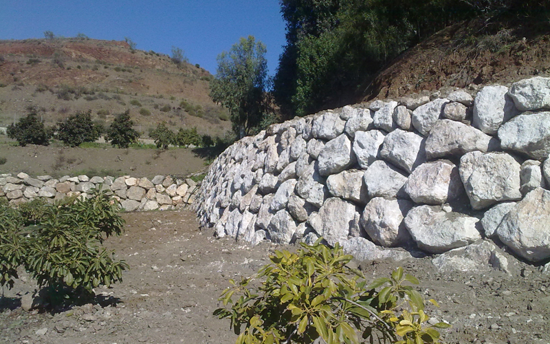 Muro de escollera